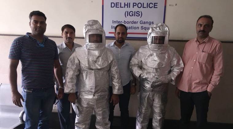 Father, son who duped people with space suits and NASA dreams held in Delhi