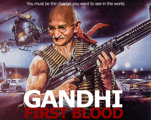 What Gandhi really thought about guns