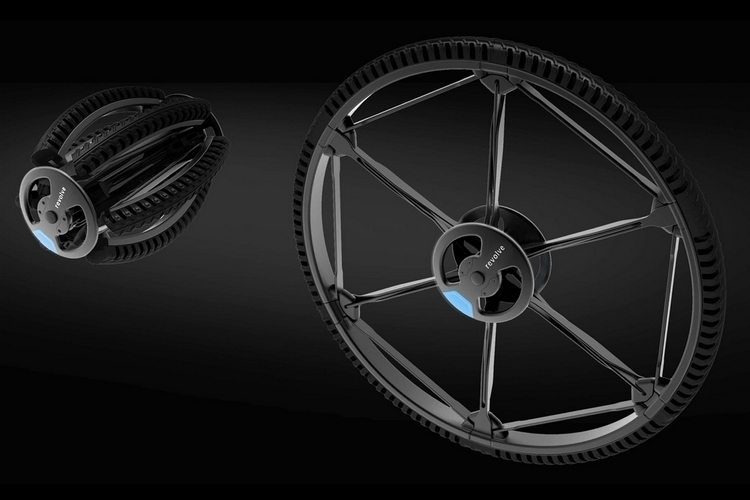Revolve Bicycle Wheel Can Fold Down Into A Compact Size That Fits Inside Backpacks