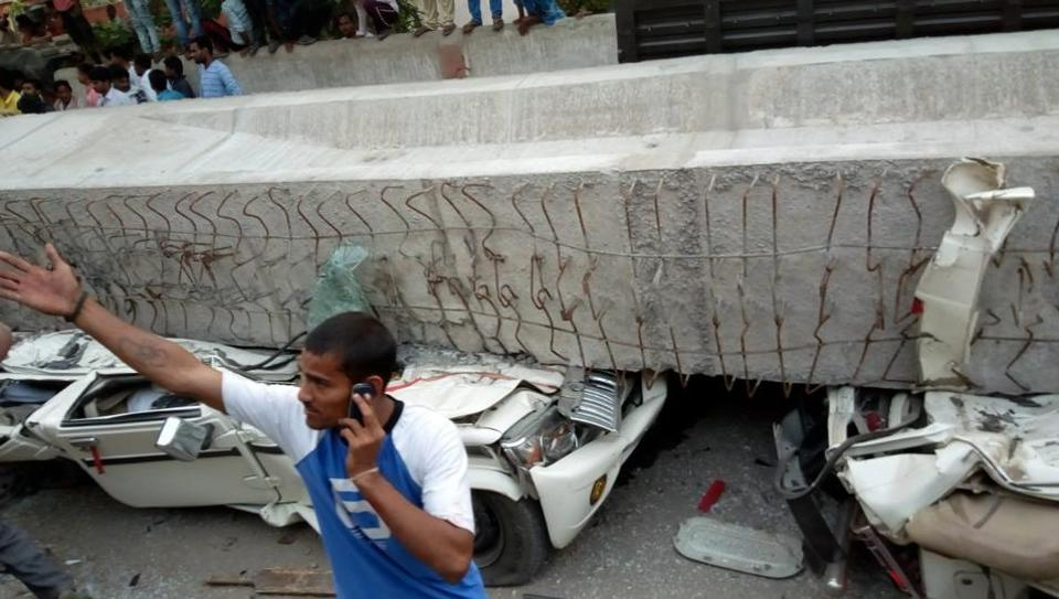 Under-construction flyover collapses in Varanasi, 18 killed, several trapped