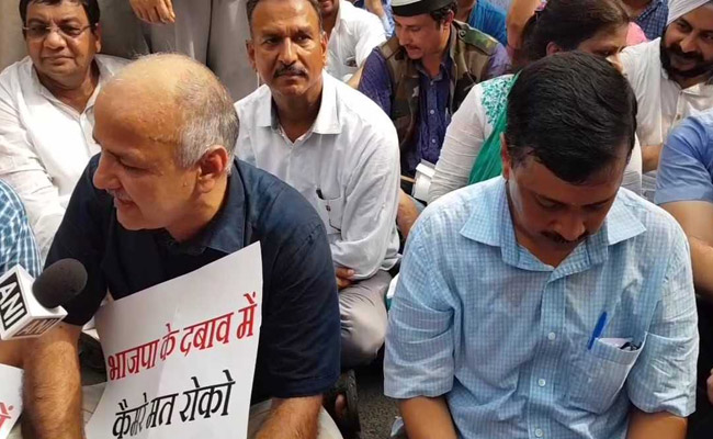 Arvind Kejriwal Stages First Dharna Since Return as Delhi Chief Minister