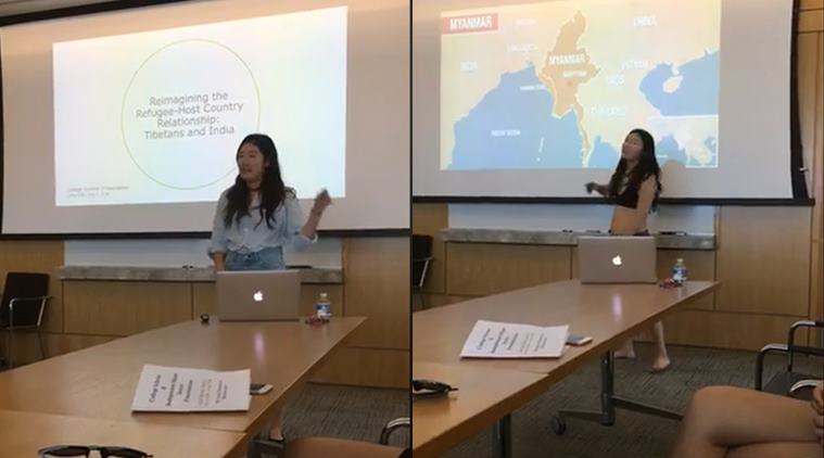 Professor questions choice of clothing, Cornell University student presents thesis in underwear