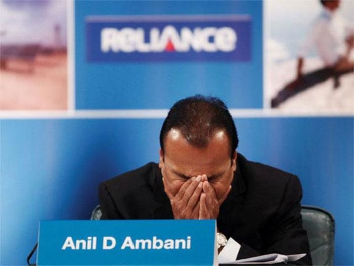 Did you ever think of an Ambani company going bankrupt?