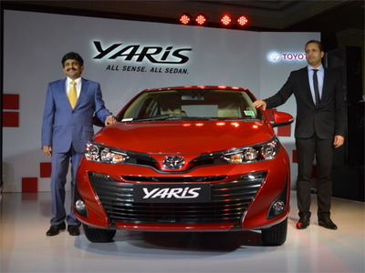 Toyota Yaris mid-sized sedan launched at Rs 8.75 lakh