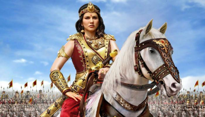 Move over Prabhas`s `Baahubali`, Sunny Leone`s warrior princess avatar in `Veeramadevi` first look will stun you