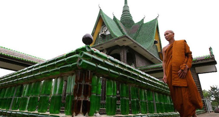 This Buddhist Temple In Thailand Is Made Completely Out Of Beer Bottles
