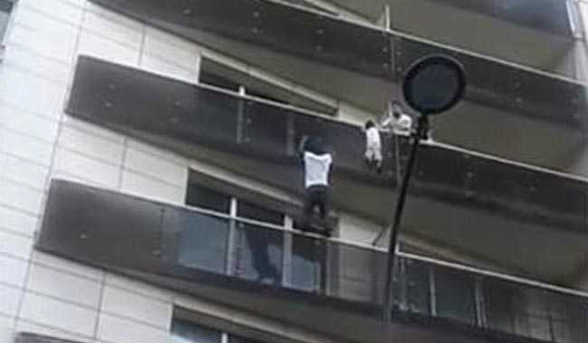 "Watch: Man Scaled 4 Floors To Save Child, ""Real Spiderman"", Say People"