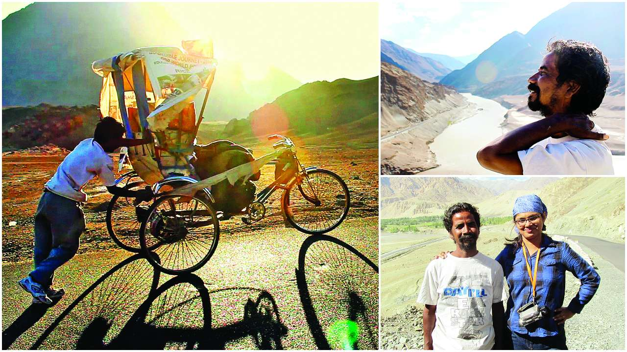 To Ladakh from Kolkata, on a cycle rickshaw