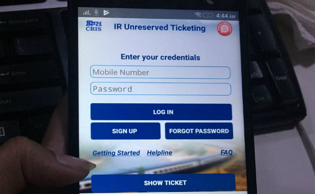Now A Mobile App By Railways To Book, Cancel Unreserved Tickets