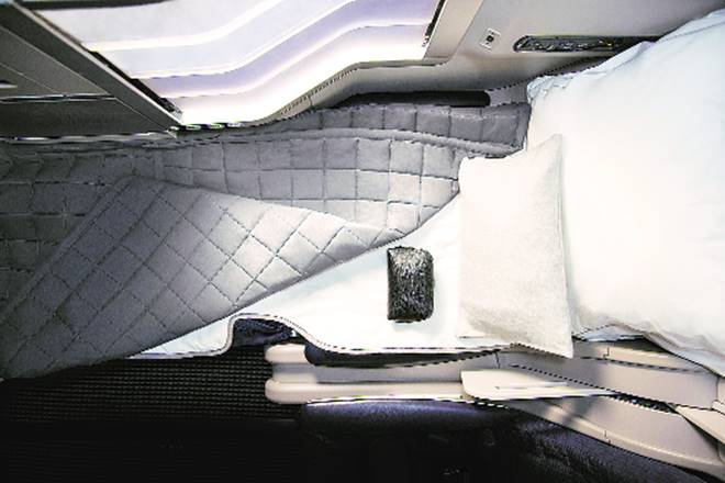 Sleep well in the sky: Airlines now offer not only flat beds, but also luxury bedding