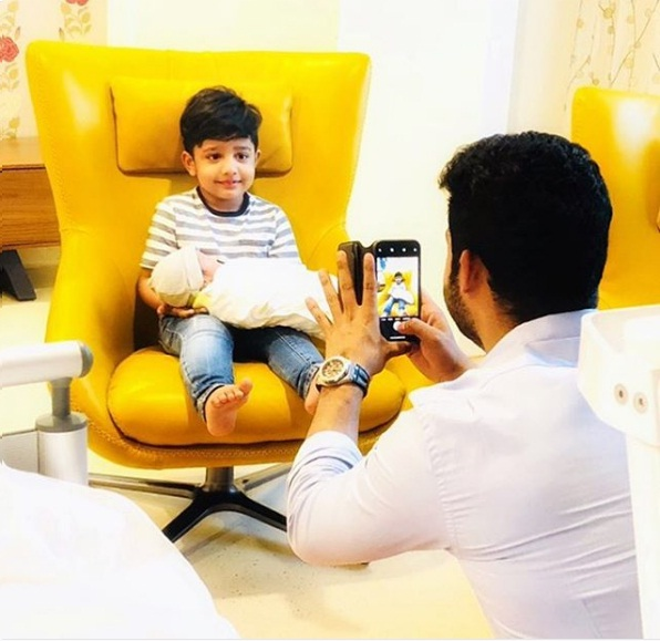 Jr NTR shares pic of his newly born son