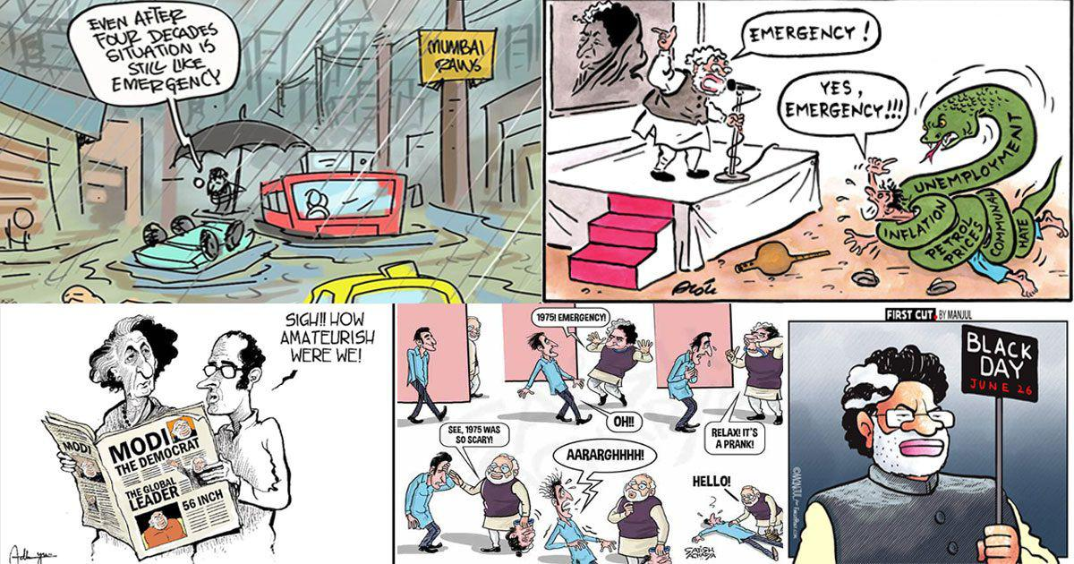 Is it 1975 or 2018? Emergency anniversary cartoons point to an eerie similarity with present times