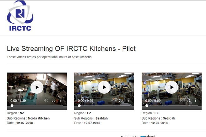 IRCTC's live streaming of kitchens a failed operation already? Now, only pre-recorded videos play on website