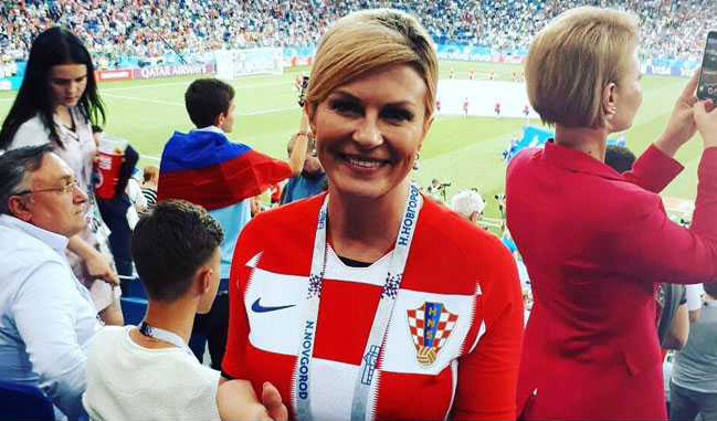 With Her Victory Dance, Croatia President Wins Hearts At FIFA World Cup
