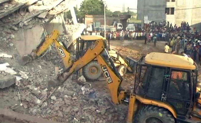 3 Dead After 6-Storey Building Falls On Another Near Delhi, Many Trapped