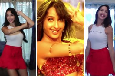Nora Fatehi Recreates The Iconic Dilbar Step Looking Hotter Than July