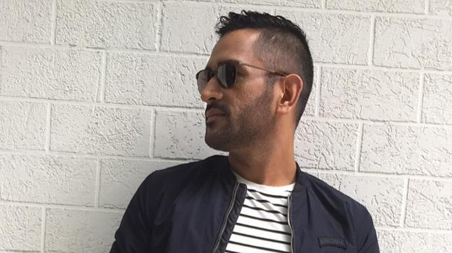 MS Dhoni opts for retro look as he rocks the V-hawk hairstyle