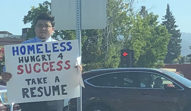 Homeless Man Handed Out Resumes On Road. Viral Tweet Leads To Job Offers