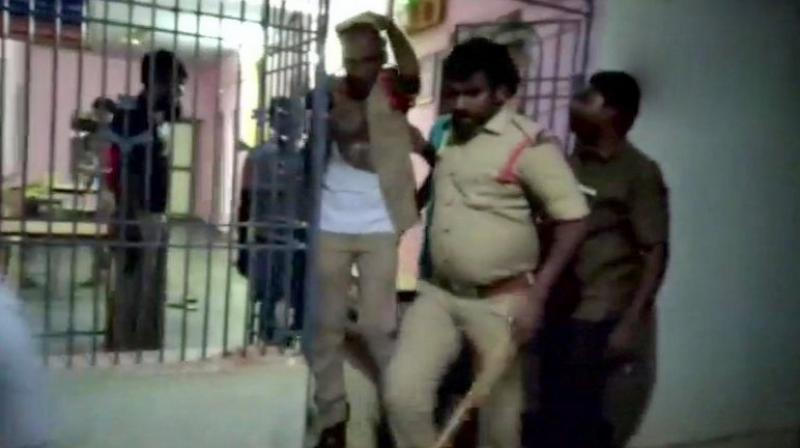 On camera: Andhra policemen beaten up inside police station in Nellore