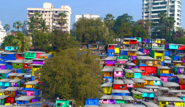 Mumbai Slums Get A Colourful Face-Lift