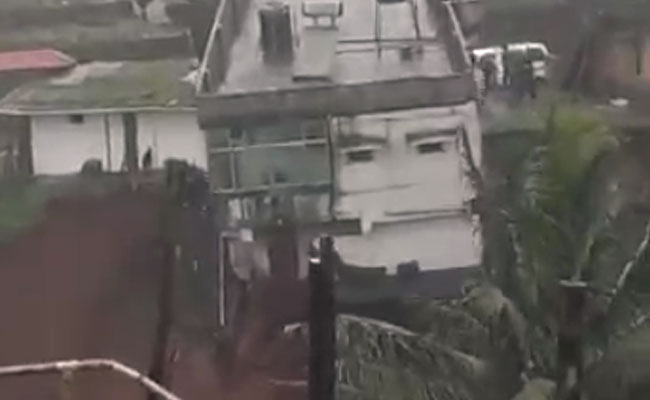 On Video, Dramatic House Collapse After Rain In Karnataka
