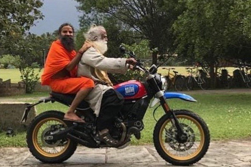 Spiritual Leader Sadhguru Takes Baba Ramdev For a Ride On a Ducati - Watch Video