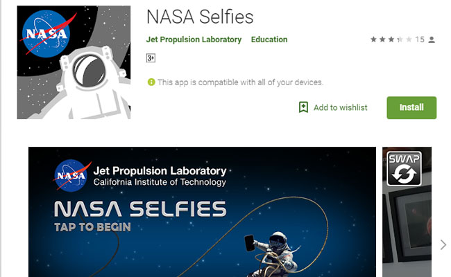 Want An Out-Of-The-World Selfie? Click With This NASA App