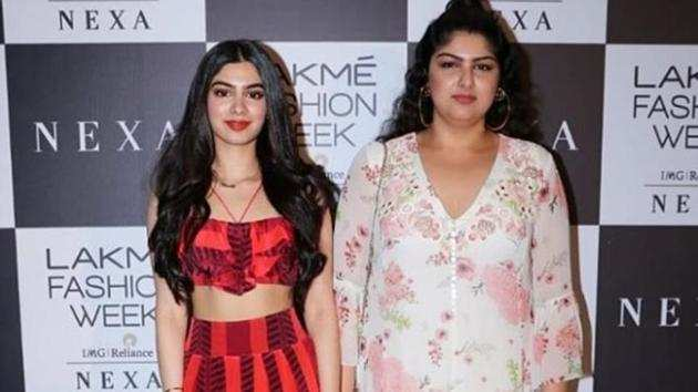 Sridevi's daughter Khushi Kapoor looks Bollywood ready as she attends LFW with sister Anshula