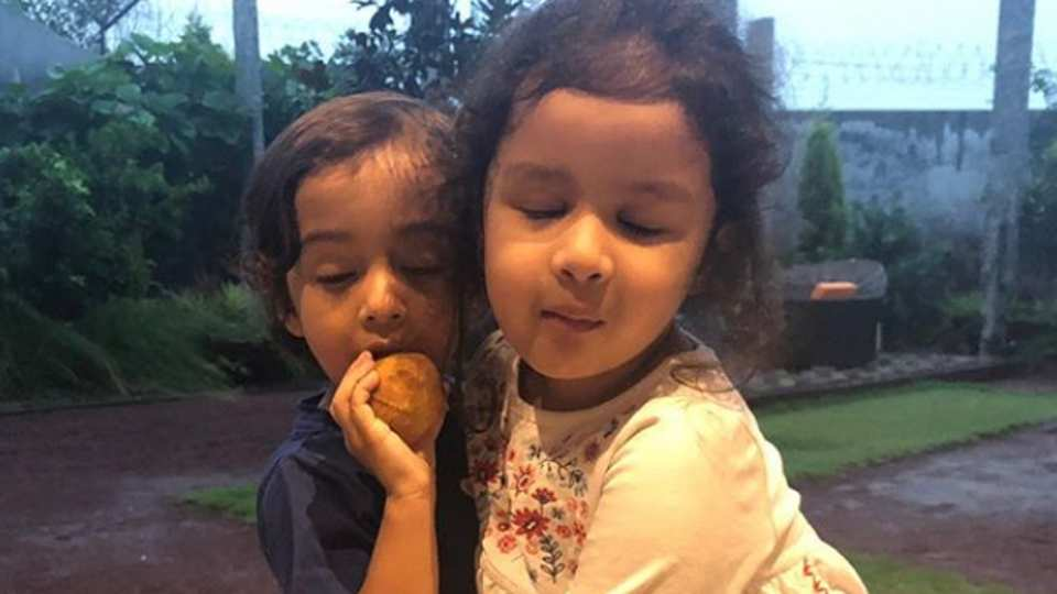 This photo of Salman Khan's nephew Ahil and MS Dhoni's daughter Ziva is pure joy