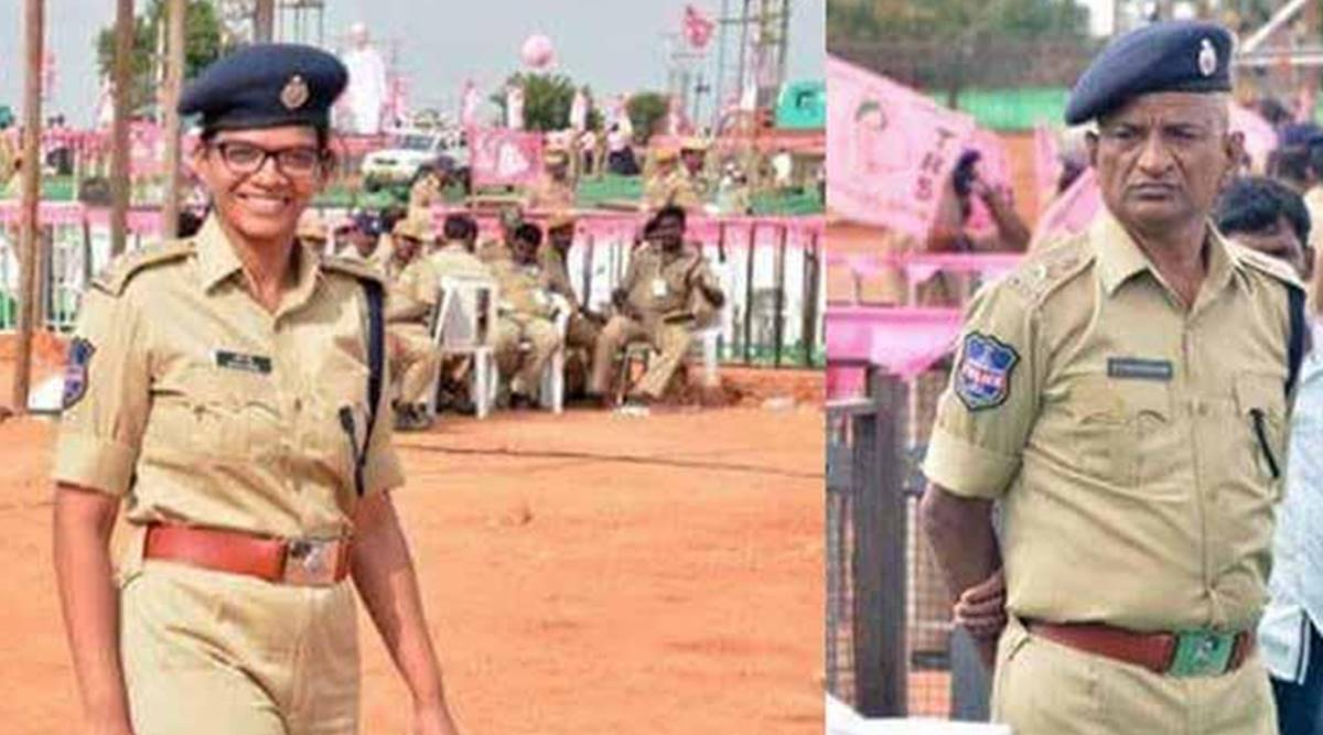 'She is my senior officer. When I see her, I salute her': Proud father salutes police officer daughter