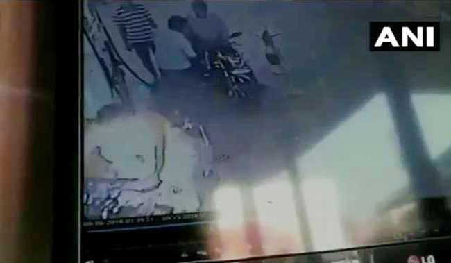 Shocking CCTV Clip Shows Biker Catching Fire At Fuel Pump In Tamil Nadu