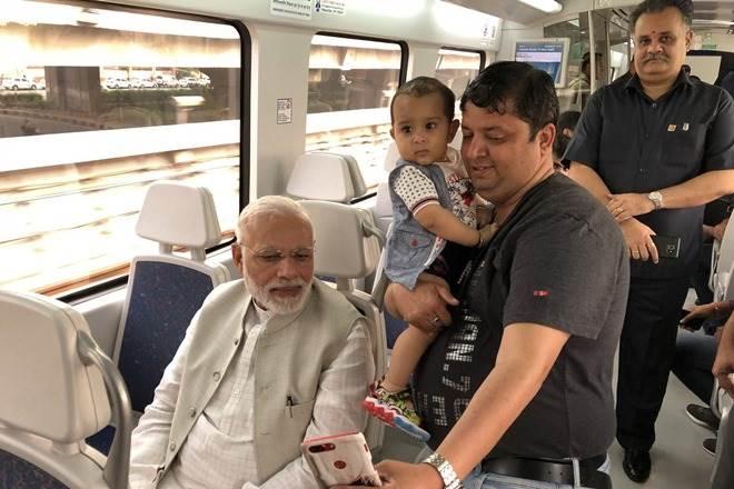 When PM Narendra Modi took a ride on Delhi Metro Airport Express line to Dwarka