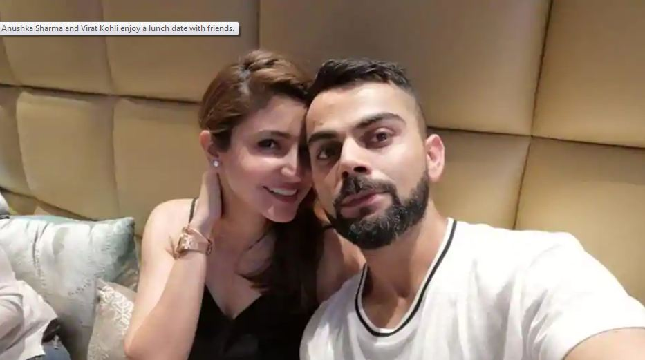 Anushka Sharma, Virat Kohli snuggle together on lunch with friends. See pics