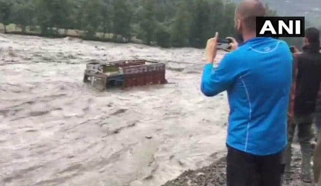 On Camera, Luxury Tourist Bus Washed Away By Flooded River Near Manali