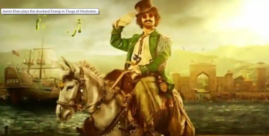 Thugs of Hindostan: Aamir Khan finally reveals his look as the goofy Firangi with new motion poster