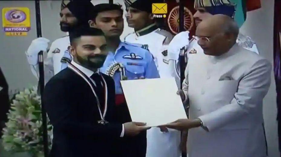 Virat Kohli, lifter Mirabai Chanu bask in Khel Ratna glory