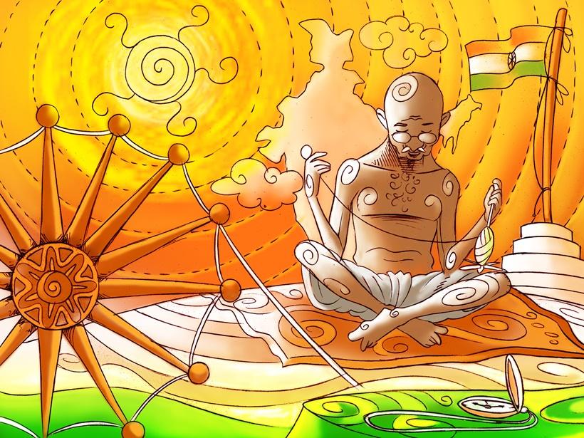 Gandhi Jayanti: Mahatma Gandhi on the birth of khadi