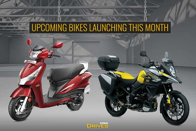 Upcoming bikes launching this month: TVS Jupiter Grande, Hero Destini 125, Suzuki V-Strom 650 & more