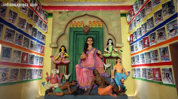 A Kolkata Durga Puja pandal pays tribute to sex workers