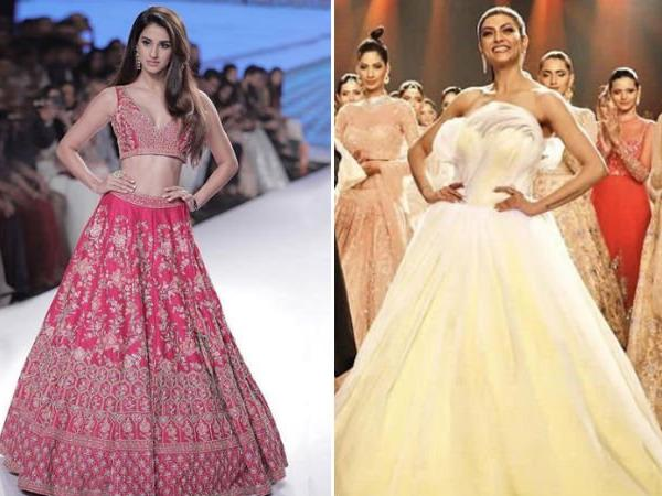 While Disha Patani stuns in a gorgeous melon pink lehenga, Sushmita Sen was a diva in a yellow tulle gown