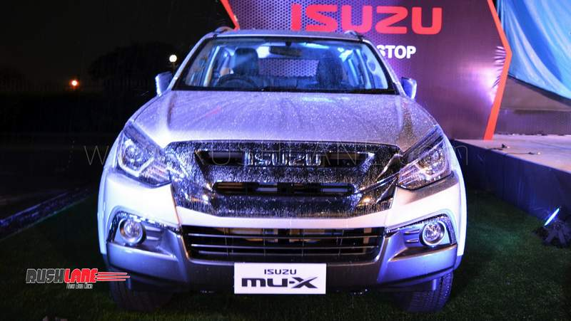 2018 Isuzu MU-X facelift SUV launch price Rs 26.26 lakhs and Rs 28.22 lakhs