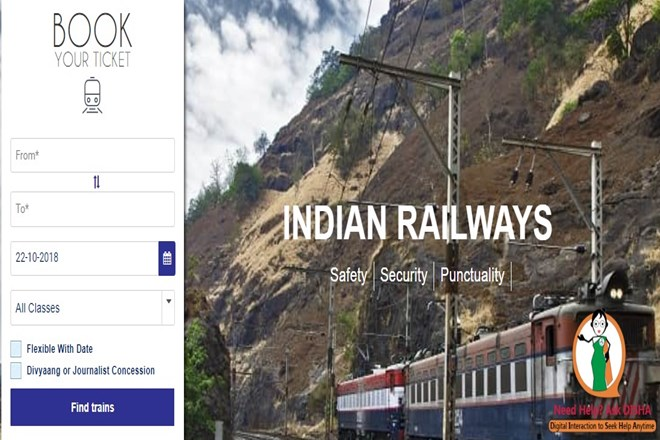 All your Indian Railways ticket queries answered! How to use the new 'Ask Disha' chat bot on IRCTC website