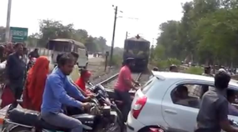 This viral video shows how people flout safety rules at railway crossings