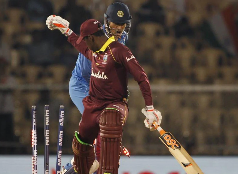India vs West Indies: MS Dhoni Takes 0.08 Seconds To Effect Stumping. Watch