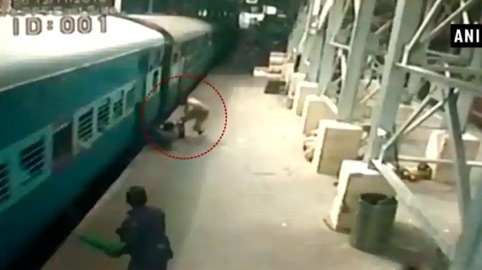 Man Tried To Board Moving Train, Slipped. Watch What Happened Next