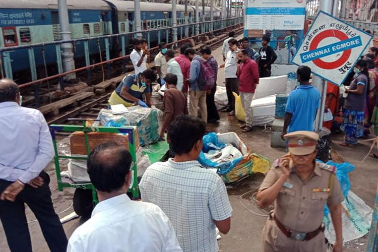 2,100 kg of suspected dog meat seized from Chennai Egmore railway station