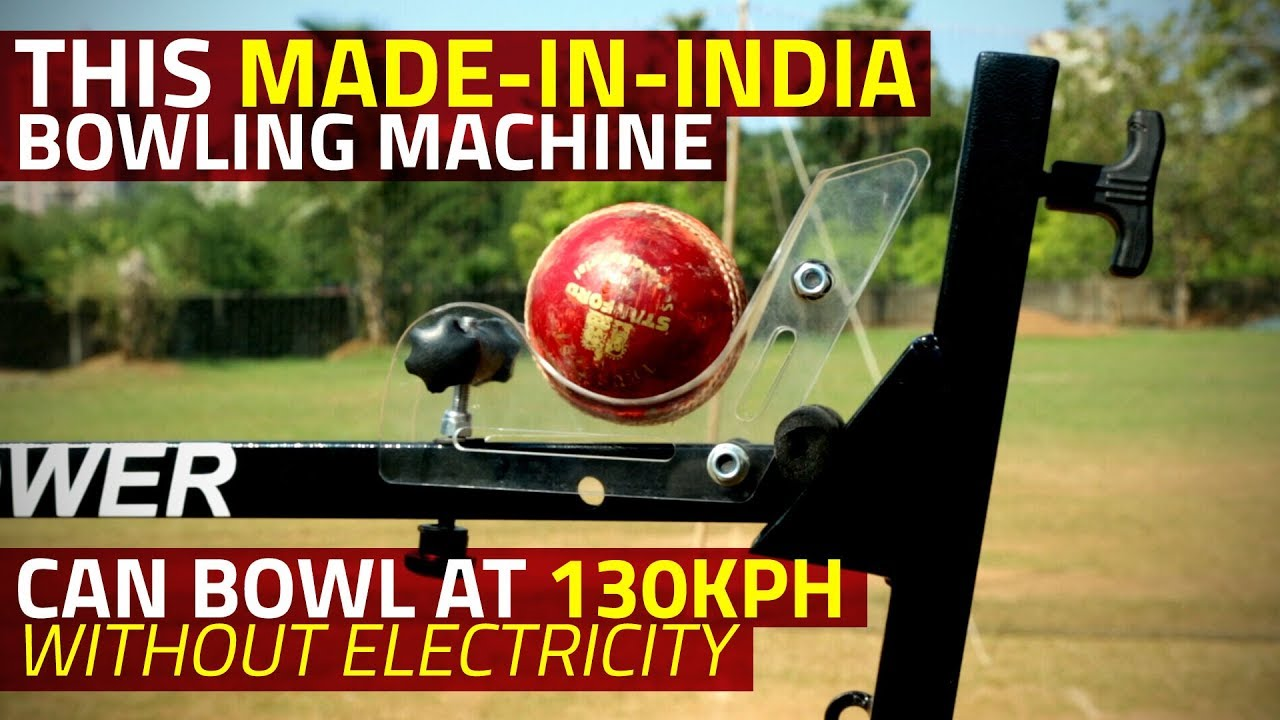 This Made-in-India Bowling Machine Can Hit 130kph Without Electricity