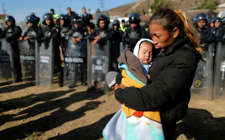 Photos Of Migrant Children Fleeing Tear Gas Spark Online Outrage At Trump