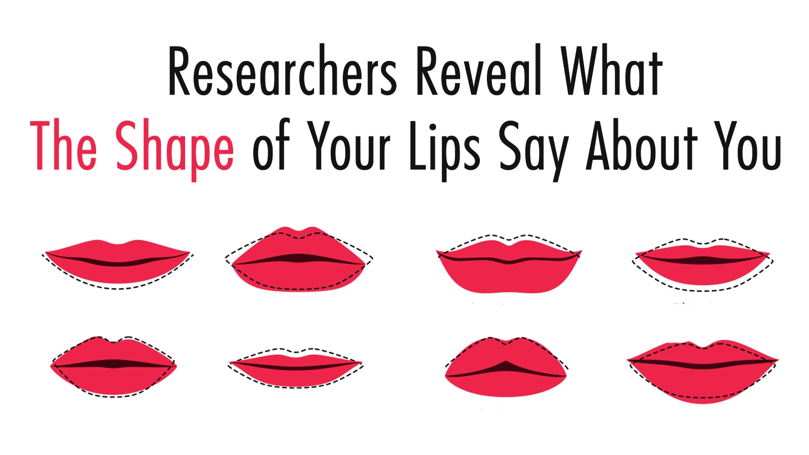 Researchers Reveal What The Shape of Your Lips Say About You