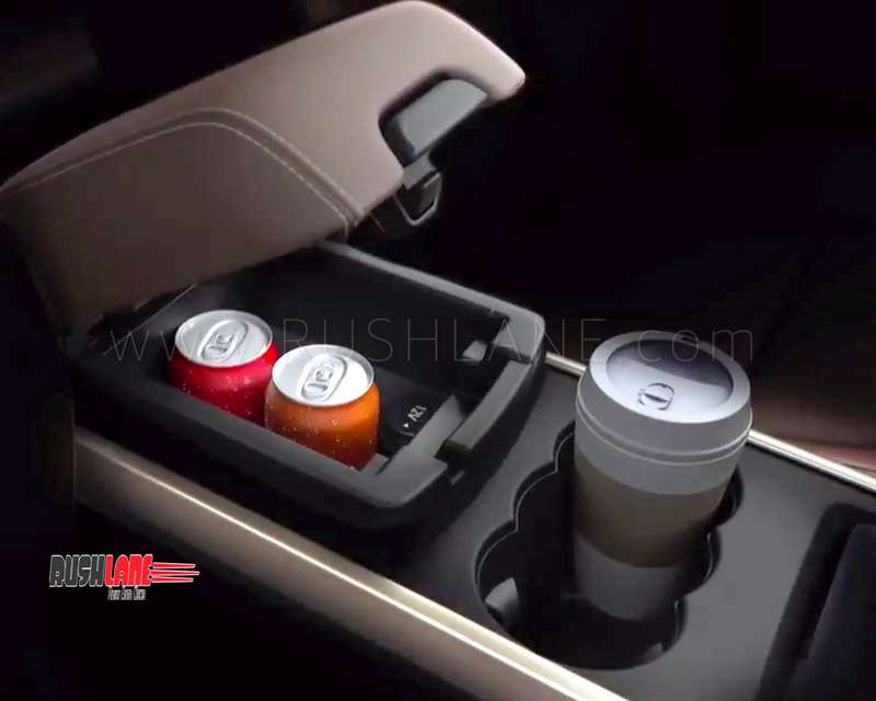 Tata Harrier under armrest storage is chilled to keep drinks cool – Premium new feature